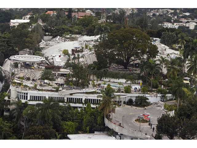In this photo released by the United Nations, the Montana hotel in seen affected by an earthquake in Port-au-Prince, Haiti, Wednesday, Jan. 13, 2010. A 7.0-magnitude earthquake struck Haiti Tuesday.