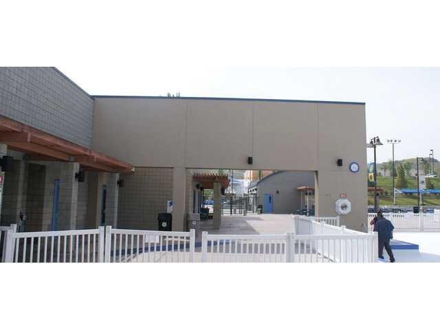 North Facing Side of the Wall of the Santa Clarita Sports Complex Aquatic Center.