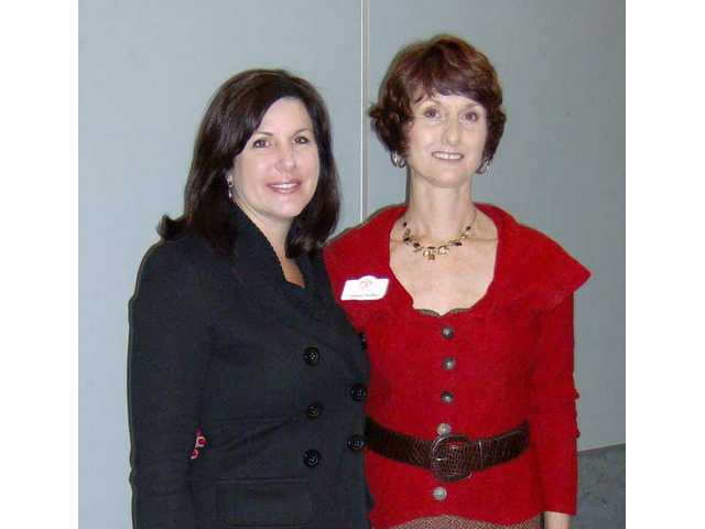 "Carolyn Nelson, Soroptimist Award chairwoman with the ""Making a Difference"" award winner, Colleen Shaffer."