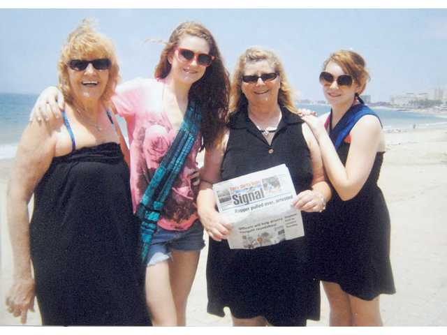 Left to right, Billie Terwilleger, granddaughter Carly Ramsey, daughter Terry Ramsey and granddaughter Taylor Ramsey are shown in Mazatlan during spring break.