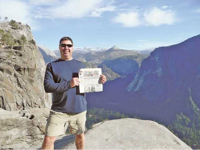 Valencia resident Brett Rateaver went to Yosemite and hiked to the top of Upper Yosemite Falls, where this photo was taken by a friend in October.