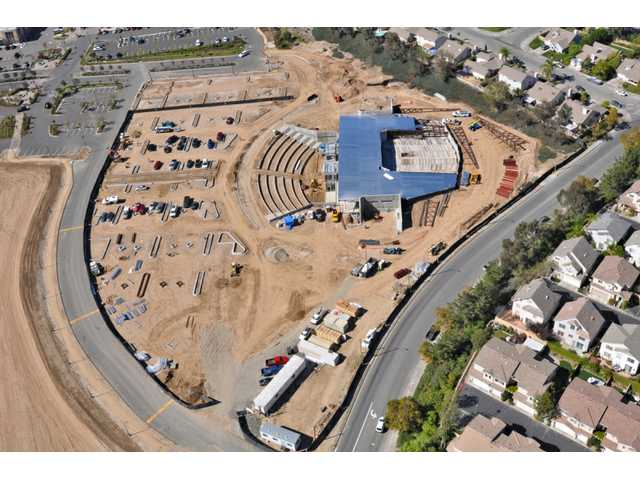 An aerial view of Real Life Church as it appeared in October 2009. Real Life Church is slated for completion in April.