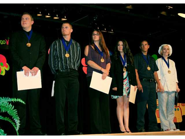Gold medalists at the ROP Awards Ceremony are (l-r) Michael Wright, Dalton Bond, Rachel Ward, Jasmin Robles, Edger España and Austyn Walline.