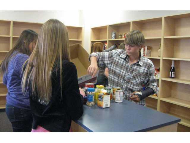 Rancho Pico Junior High School donated more than 2,700 items to the SCV Food Pantry this year.