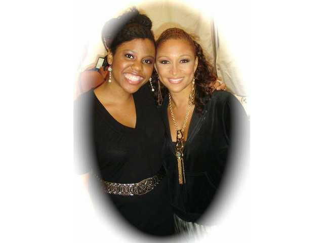 Rochella Brown has toured as a backup singer with such artists as Chante Moore (right).