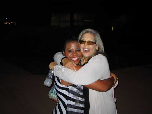 Rochella Brown has toured as a backup singer with such artists as Patti Austin (right).