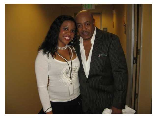 Rochella Brown has toured as a backup singer with such artists as Peabo Bryson (right).