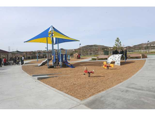 The 17-acre West Creek Park was dedicated to LA County by Newhall Land.