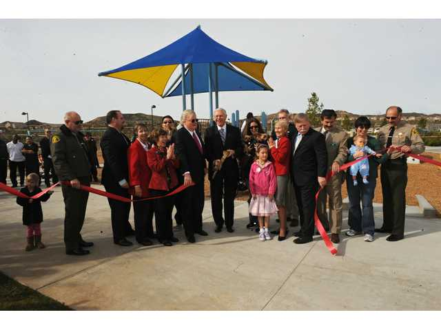 The 17-acre West Creek Park was dedicated to L.A. County by Newhall Land on Jan. 15, 2010.