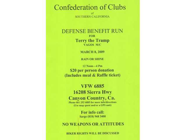 Here's a copy of the flyer promoting the March 8 fundraiser at the VFW hall in Canyon Country.