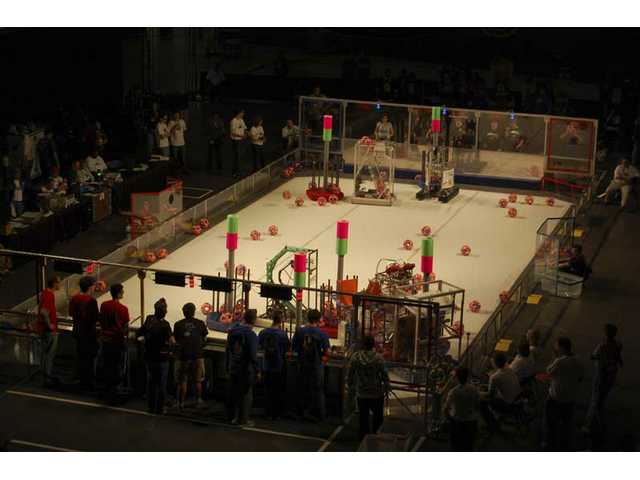 West Ranch robotics team goes for 'lunacy' in L.A. competition