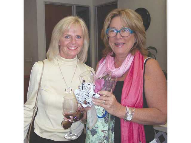 Cheri Fleming, left, governor of the Camino Real Region of Soroptimist International and Gail McCroskey, 2008 Henry Mayo Breast Cancer Awareness spokeswoman.