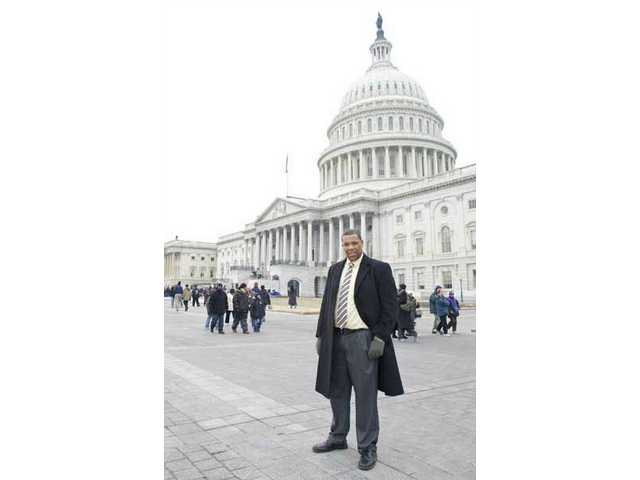 The Santa Clarita Valley Signal's Brian Charles inspects the U.S. Capitol Building in Washington, D.C., on Inauguration Eve.