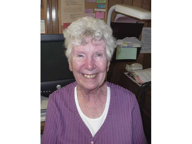 Barbara Bailey is a longtime Senior Center volunteer. She has a retina-destroying eye condition, but continues to help others through the Center's Supportive Services department.