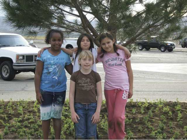 Girl Scout Troop 8252, back row, left to right, Jada Williams, Laura Hernandez and Brooke Rapko, front, Mackenna Teeman.
