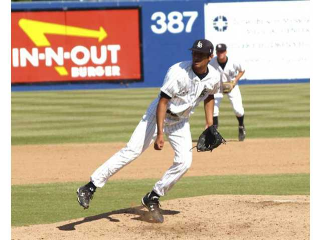 Bobby Corrales' son Josh, a Valencia High School graduate now playing for Cal State Long Beach, earns his first save of the season April 19, with his dad in the bleachers watching it happen.