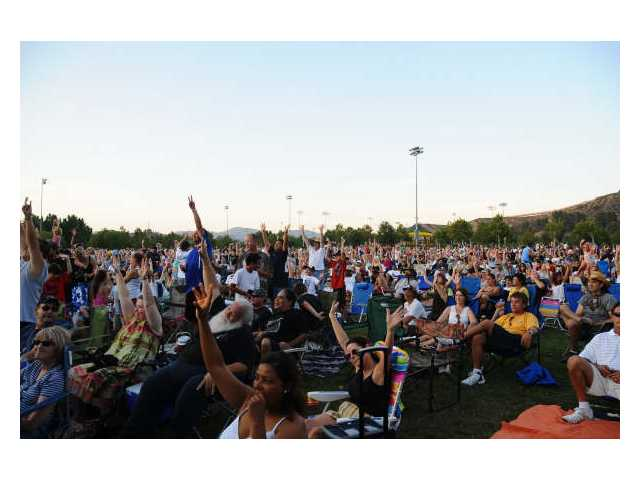 A field full of fans enjoyed Led Zepagain's Concert in the Park performance July 18.