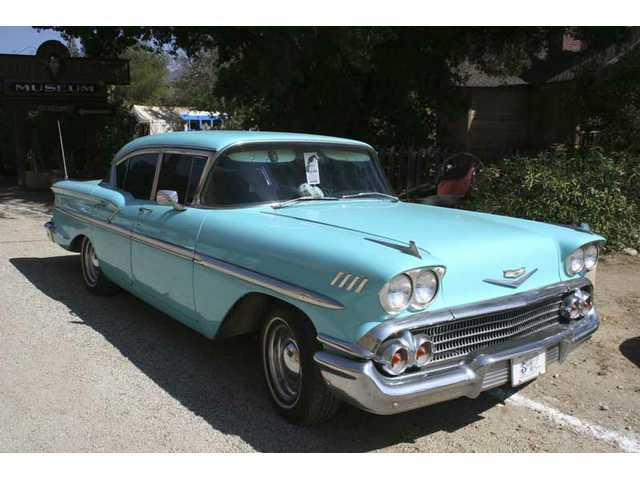Morris Deason's 1958 Chevy is a fixture on the road in the Santa Clarita Valley.