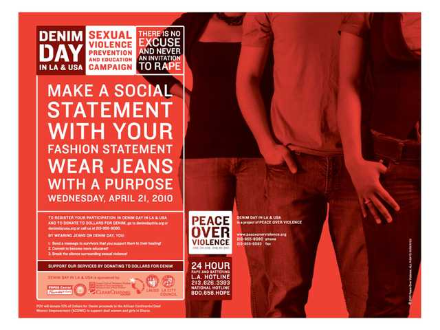 'Denim Day' fights sexual violence April 21