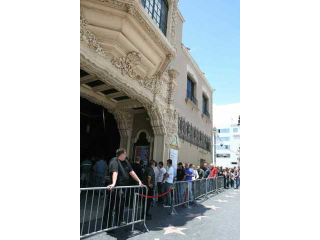Drum fans lined up for the Pro Drum Shop 50th anniversary party at the Avalon on Vine Street in Hollywood Saturday afternoon.
