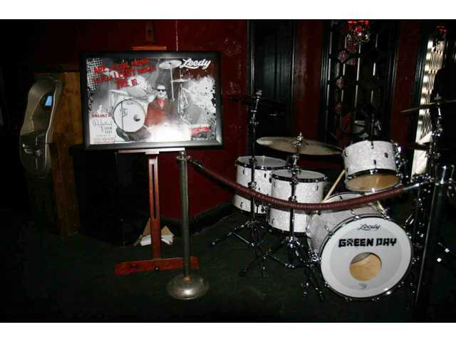 This set of Ludwigs was custom-built for Green Day drummer Tre Cool for the band's 2009 tour. The kit was set up in the lobby at the Avalon in Hollywood during the shop's 50th birthday bash Saturday afternoon.