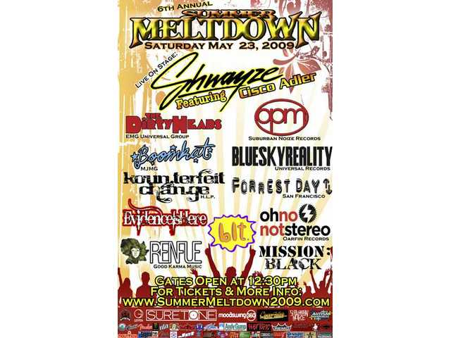 Here's the latest poster for the 6th annual Summer Meltdown concert at the Golden Valley High School amphitheater Saturday, May 23.