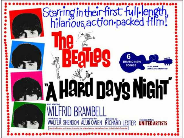 Beatles' 1964 film classic 'A Hard Day's Night' coming to 'Flickers at the Junction'
