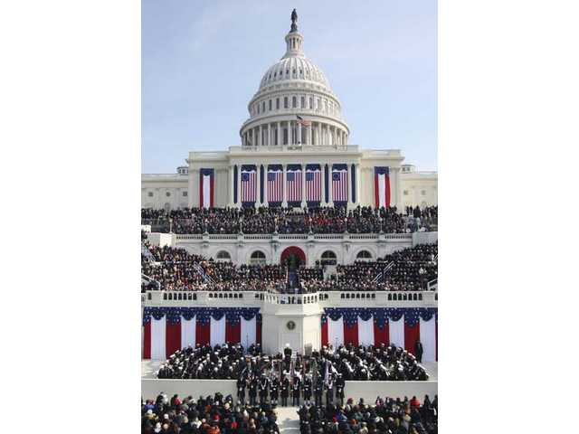 President Barack Obama gives his inaugural address at the U.S. Capitol in Washington, D.C., Tuesday, Jan. 20, 2009.