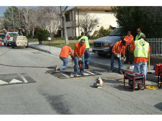 Traffic humps installed in Saugus
