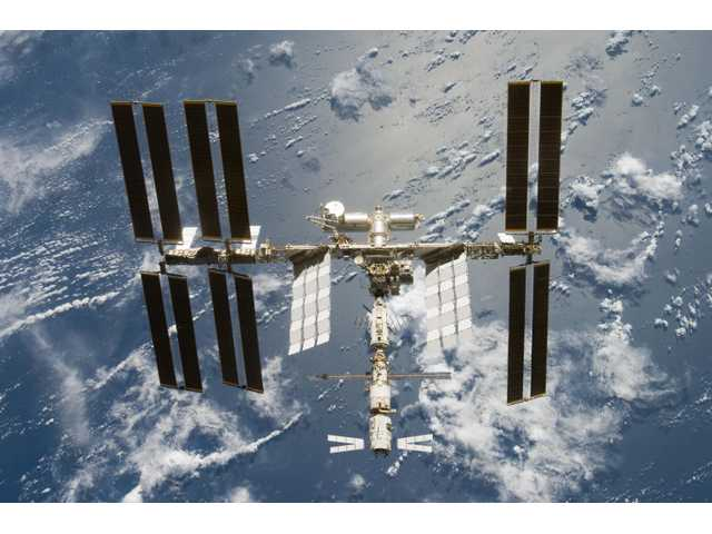 NASA predicts the space station will be visible over Santa Clarita at 4:01 a.m. and 10:03 p.m. today, and 4:24 a.m. and 8:49 p.m. Thursday.