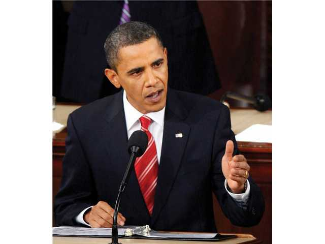 President Barack Obama delivers his State of the Union address on Capitol Hill in Washington on Wednesday.