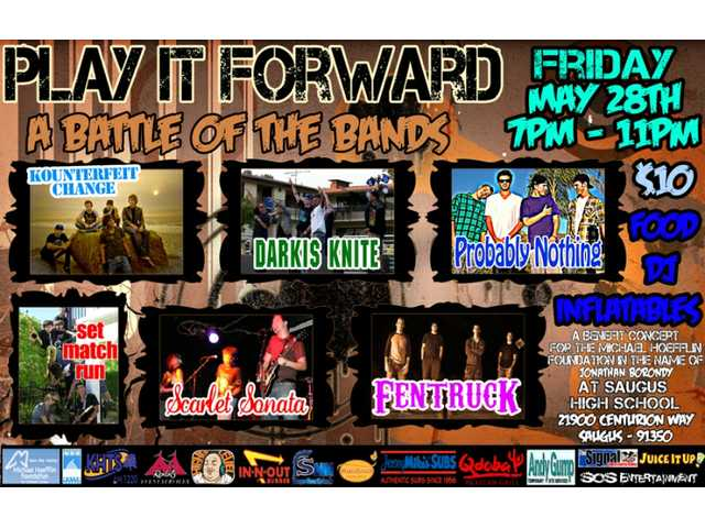 "Here's the official ""Play it Forward"" flier."