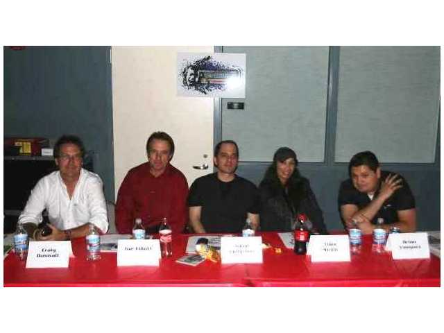 The SCV Rock Star judges (from left): Craig Duswalt, Joe Elliott, Adam Philipson, Thea Stern and Brian Vasquez.