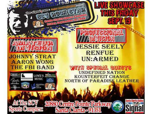 Tonight's 'SCV Rock Star Night' schedule