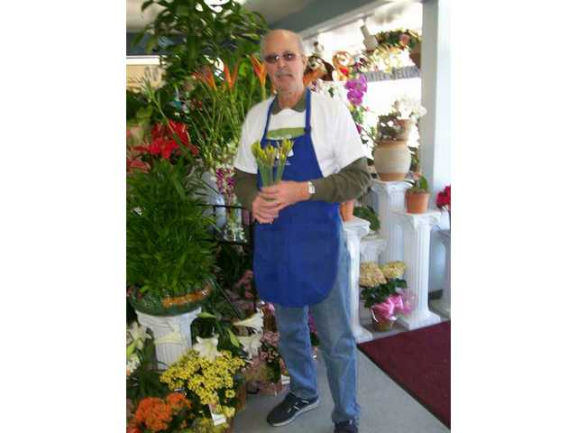 Steve Hanauer of Steve's Valencia Florist donates the use of his store to the American Cancer Society SCV Unit for the floral fundraising event.