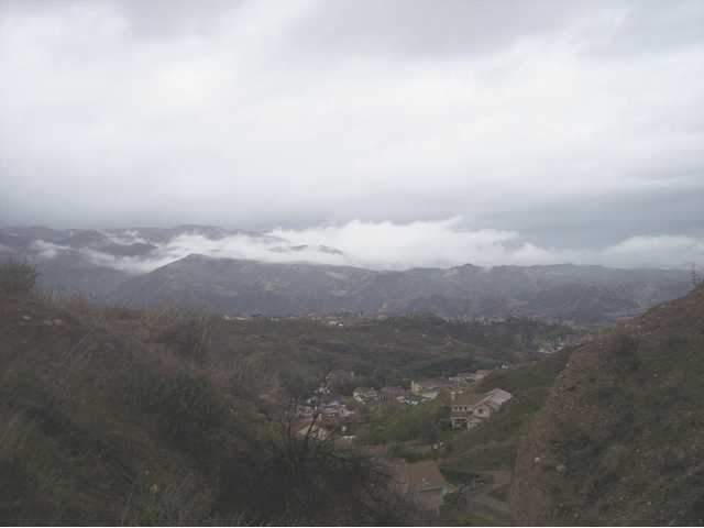 The view from Stonecrest Park in Canyon Country offers spectacular views from above of several Canyon Country neighborhoods. In the winter the park can offer a vantage point for watching the low hanging clouds.