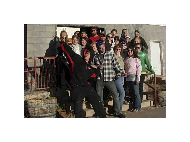 Various youth groups gather for a photo while on their mission trip in Sonto, Ariz. Giving up their spring break, eight youths from First Presbyterian Church, Newhall painted the Sonto Head Start Preschool located on the Navajo Reservation.