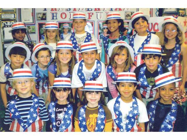 Pictured above are the Poetic Patriots from the room 4 third-grade class at Castaic Elementary School. The students collaborated on an essay on what it means to be a good citizen, and came to the conclusion that the best way is to vote.