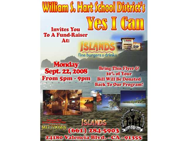 Download and print out this flyer, take it to Islands from 5 p.m. to 9 p.m. today and tonight, have a great meal, and Islands will donate 20 percent of your bill back to the Yes I Can program.