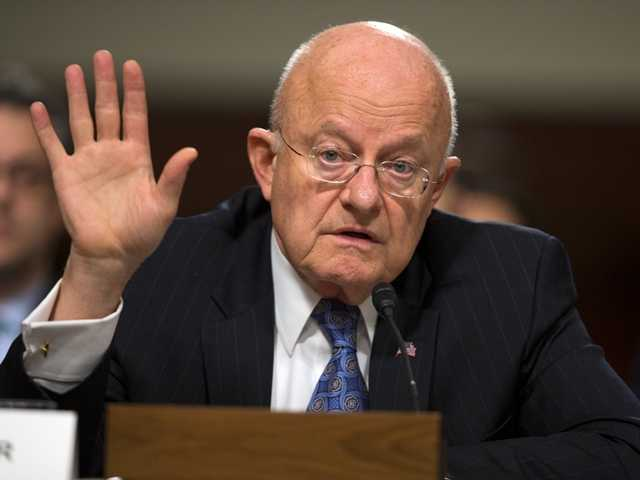 <p>Director of National Intelligence James Clapper testifies on Capitol Hill in Washington on Tuesday before a Senate Armed Services Committee hearing on worldwide threats.</p>