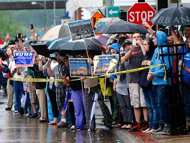 "<p>Hillary Clinton was met in Ashland, Ky. on Monday by just a handful of supporters and a lone heckler, who shouted: ""Go home, Hillary!""</p>"