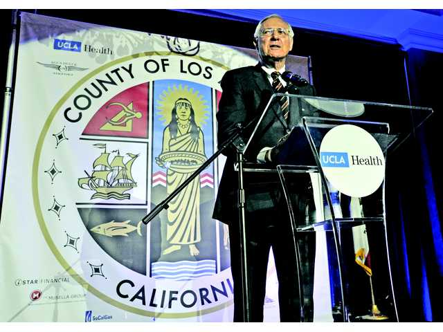 <p>Los Angeles County Supervisor Michael D. Antonovich addressed hundreds of people at the seventh annual State of the County Luncheon Friday.</p>