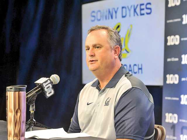 <p>Cal Berkeley head football coach Sonny Dykes, above, said at Pac-12 Media Days in Burbank this week that he expects West Ranch graduate Jeff Coprich to factor in his team's running back rotation this season.</p>