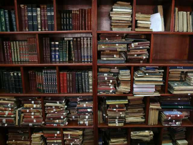 <p>This Tuesday, July 28, 2015 photo shows restored books and documents at the Baghdad National Library in Iraq. </p>
