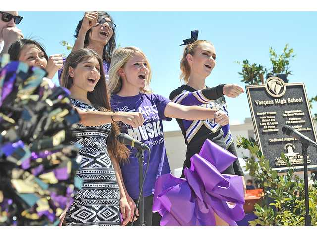 <p>They say good things come to those who wait, and, on Saturday, a hefty crowd experienced that firsthand at the dedication ceremony for the new Vasquez High School campus in Acton.</p>