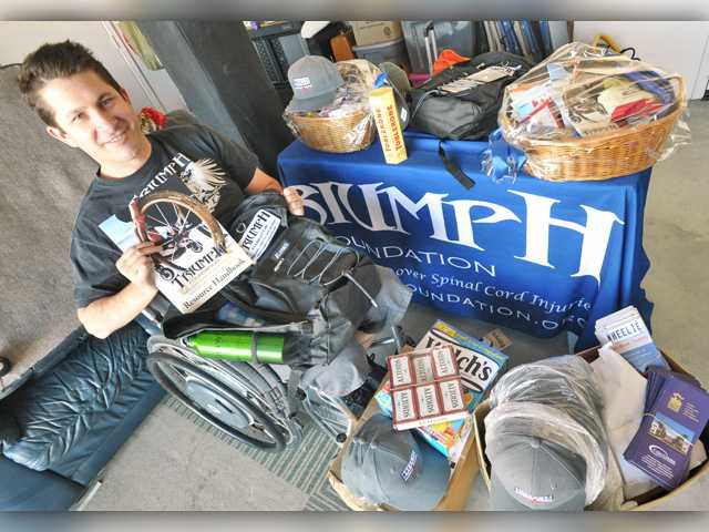 <p><span>Andrew Skinner, founder of the Triumph Foundation, received an unexpected surprise when the Santa Clarita Valley Rotary Club generously donated $10,000 last week to help the nonprofit replace items lost in a devastating storage fire last summer.</span></p>