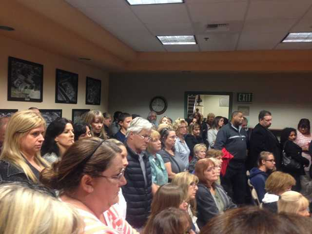 <p>Sulphur Springs School District board members voted unanimously to lay off four librarians and two other district positions to help close a multi-million dollar budget deficit during a heated board meeting this week.</p>