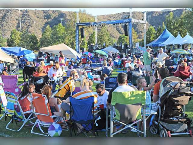 <p>A crowd chats prior to one of the 2012 Concerts in the Park. This year is the 26th annual in the event series, which has proven to be very popular. Signal file photo</p>