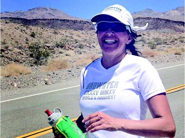 """<p>Ultra marathon runner Norma Bastidas trained hard in the Santa Clarita Valley — running up and down Towsley Canyon, doing """"planks"""" in the sauna — all in preparation for running the world's toughest foot race, which is in Death Valley.</p>"""