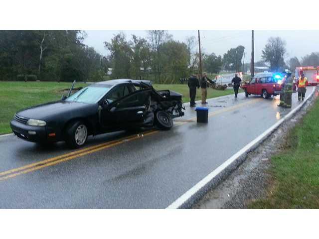 Crash injures two